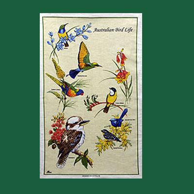 Australia Bird Life Tea Towel