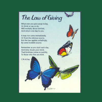 Life in Verse Magnet - The Law of Giving