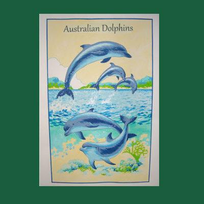 Australian Dolphins Tea Towel