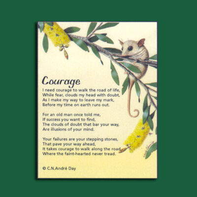 Life in Verse Magnet - Courage