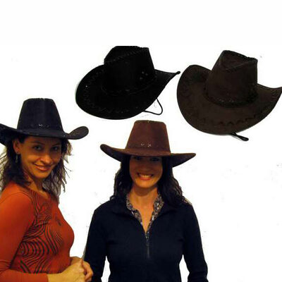 Black/Brown Cowboy Hat 2 Assorted