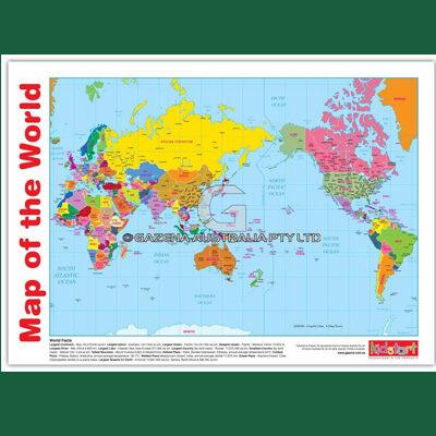 World Map & Flags Chart