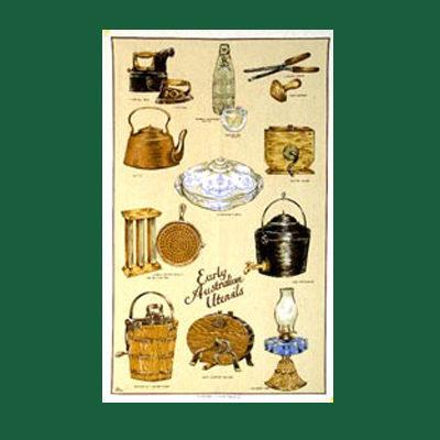 Early Utensils Tea Towel