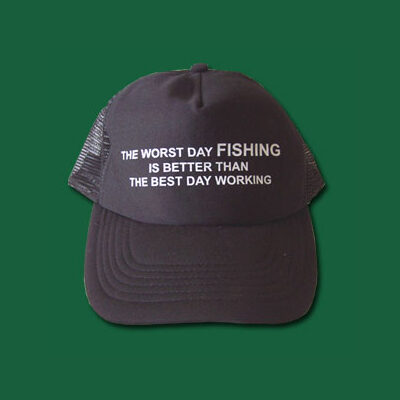 Poly Cotton Cap - Worst Day Fish