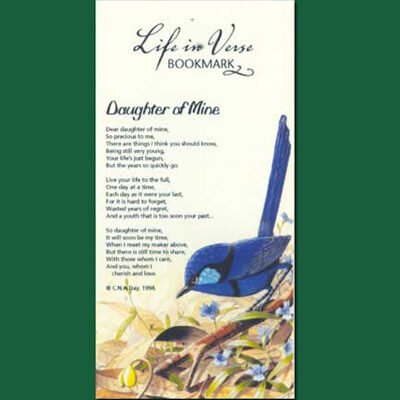 Life in Verse Bookmarks - Daughter of Mine