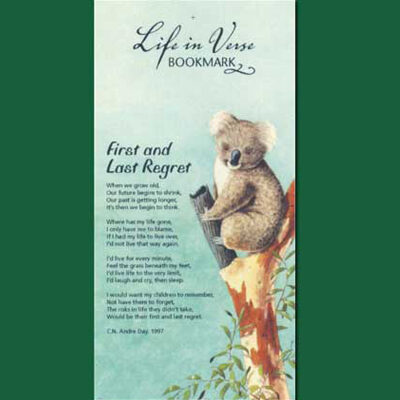 Life in Verse Bookmarks - First & Last Regret