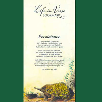 Life in Verse Bookmarks - Persistence