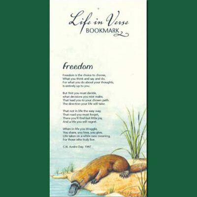 Life in Verse Bookmarks - Freedom
