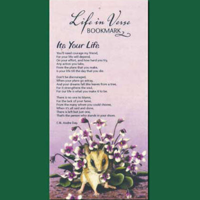Life in Verse Bookmarks - It's Your Life