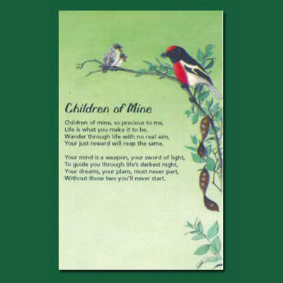 Greeting card children of mine south australian souvenirs