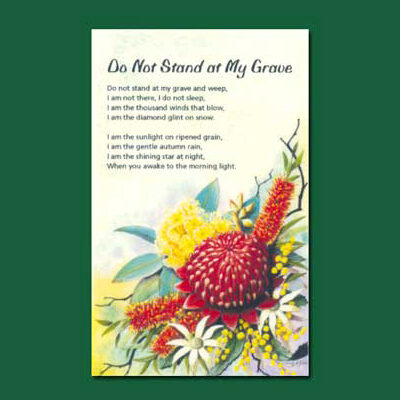 Greeting Card - Do Not Stand at My Grave