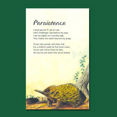 Life in Verse Greeting Card - Persistence