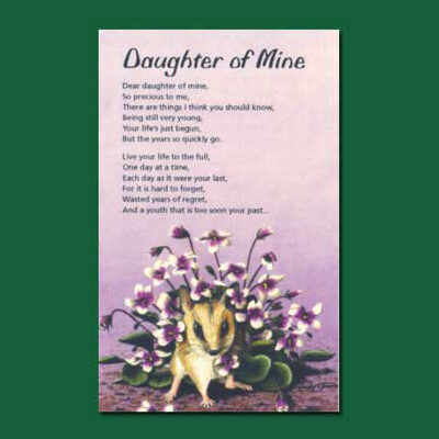Life in Verse Greeting Card - Daughter of Mine