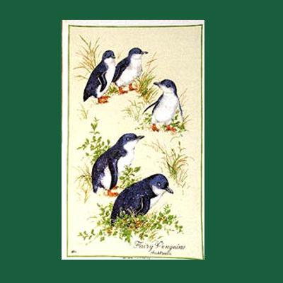 Penguins Tea Towel