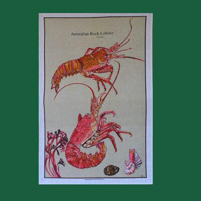Rock Lobster Tea Towel