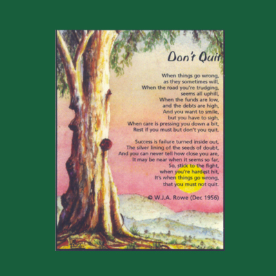 Life in Verse Magnet - Don't Quit