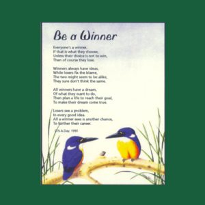 Life in Verse Magnet - Be a Winner