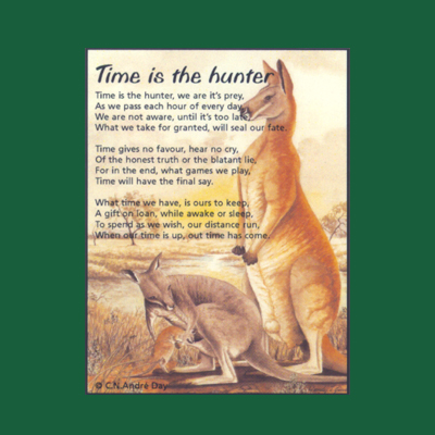 Life in Verse Magnet - Time is the Hunter