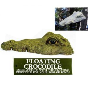 CROCFLS - 35cm Floating Crocodile With Mouth Closed