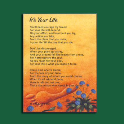 Life in Verse Magnet - It's Your Life