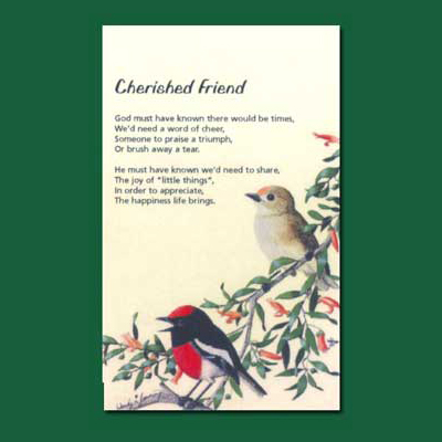 Life in Verse Greeting Card - Cherished Friend