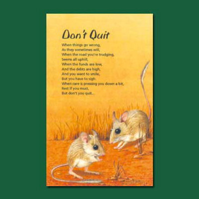 Greeting Card - Don't Quit