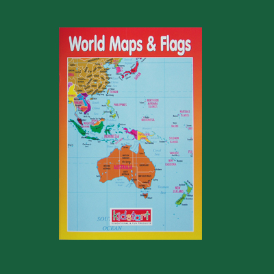 World Map & Flags Wipe Clean Book