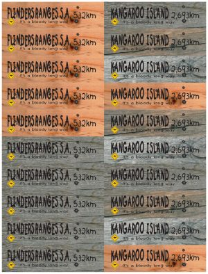 Kangaroo Island / Flinders Ranges Distance Marker